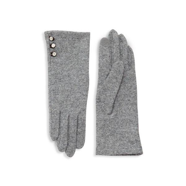 ラルフローレン レディース 手袋 アクセサリー Wool-Cashmere Blend Button Gloves Grey Heather
