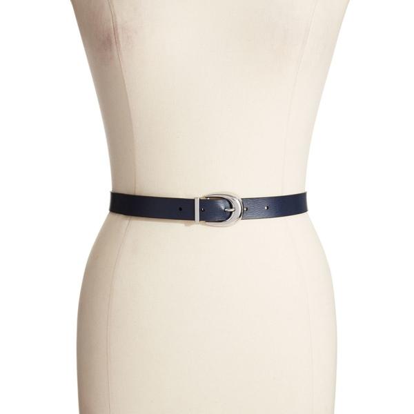 ラルフローレン レディース ベルト アクセサリー Saffiano Leather Reversible Belt Navy