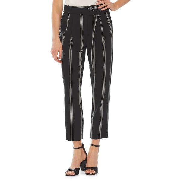 ヴィンスカムート レディース カジュアルパンツ ボトムス Modern Rouge Drapey Pinstripe Pants Rich Black