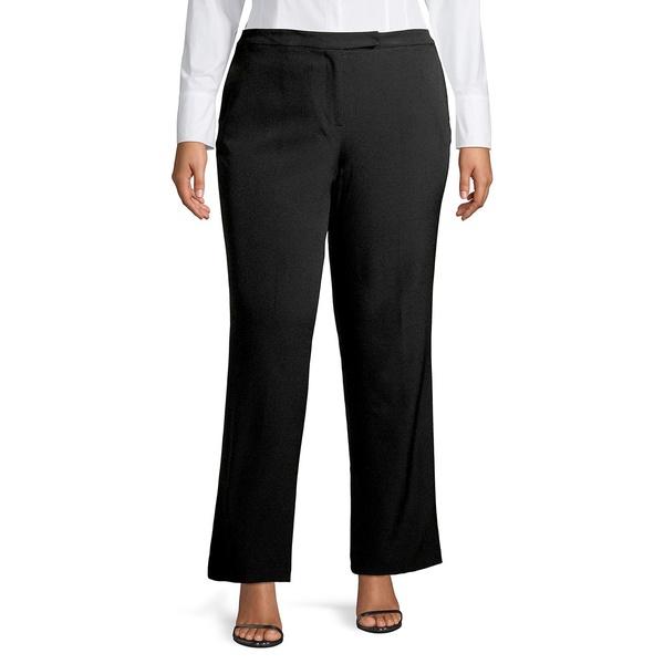 カスパー レディース カジュアルパンツ ボトムス Wide-Leg Trousers Black
