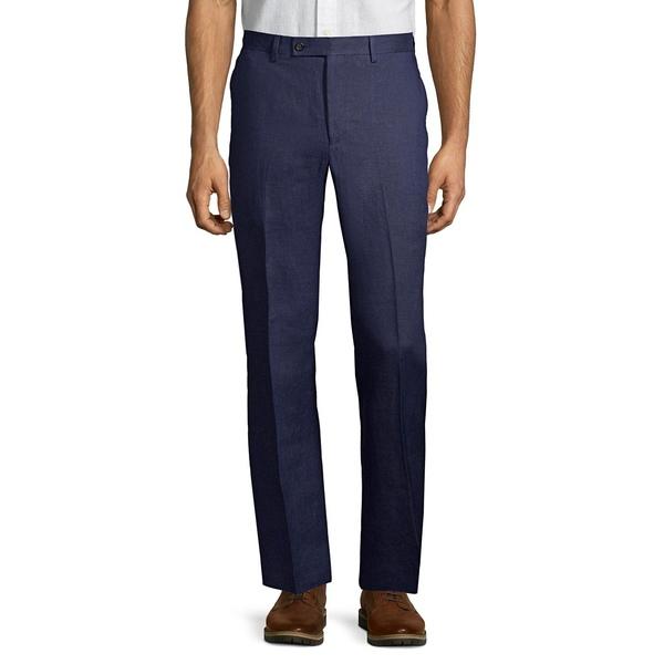 ラルフローレン メンズ カジュアルパンツ ボトムス Classic-Fit Linen Dress Pants Navy