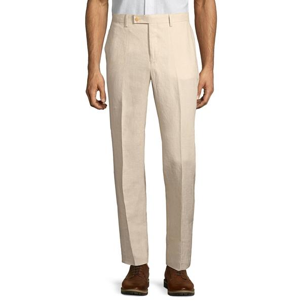 ラルフローレン メンズ カジュアルパンツ ボトムス Classic-Fit Linen Dress Pants Tan