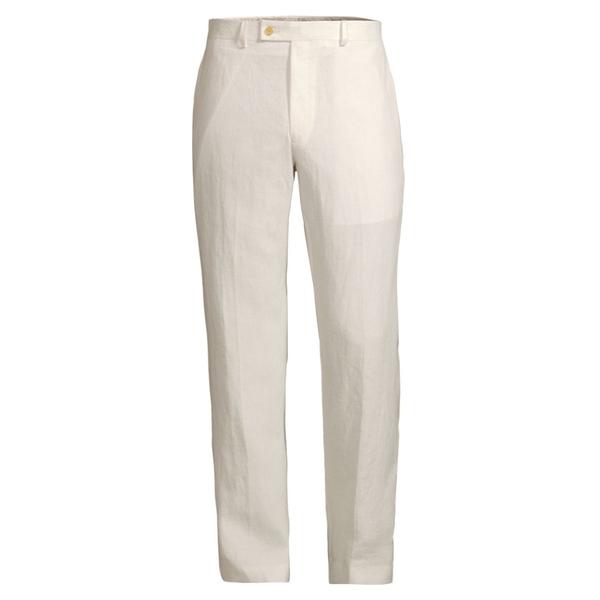 ラルフローレン メンズ カジュアルパンツ ボトムス Classic-Fit Linen Dress Pants Off White