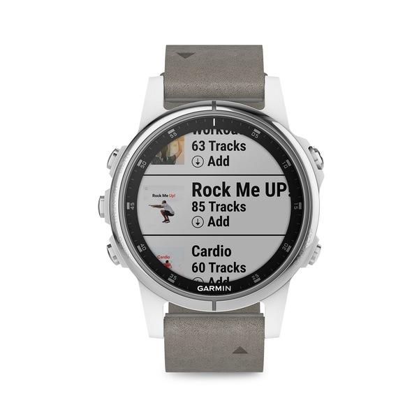 ガーミン レディース 腕時計 アクセサリー Fenix 5S Plus Stainless Steel & Silicone-Strap Smart Watch Grey