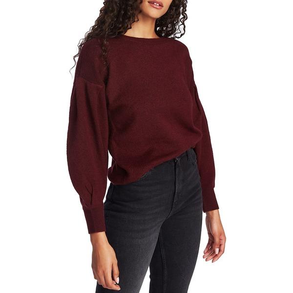 ワンステイト レディース ニット&セーター アウター Knit Cotton-Blend Sweater Mahogany