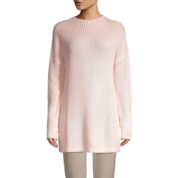コアライフ レディース ニット&セーター アウター Funnel-Neck Ribbed Sweater Pale Blush