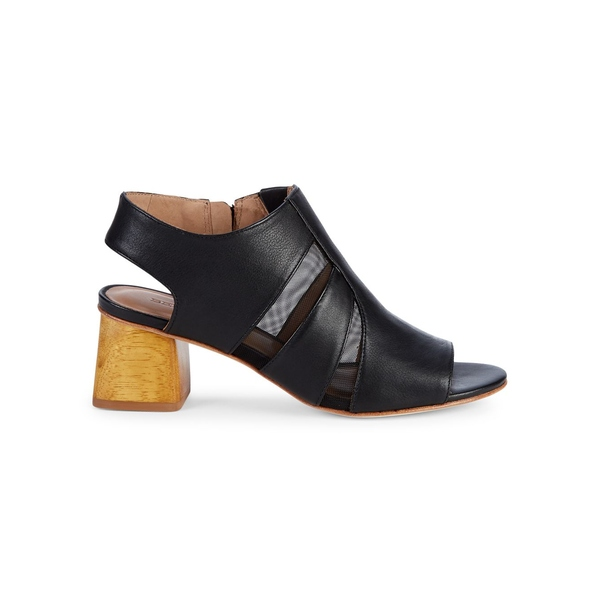 ベルナルド レディース サンダル シューズ Bailey Heeled Sandals Black Leather