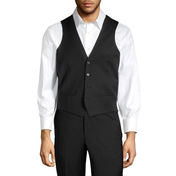 タリアオレンジ メンズ ジャケット&ブルゾン アウター Suit Separate Wool Blend Vest Black