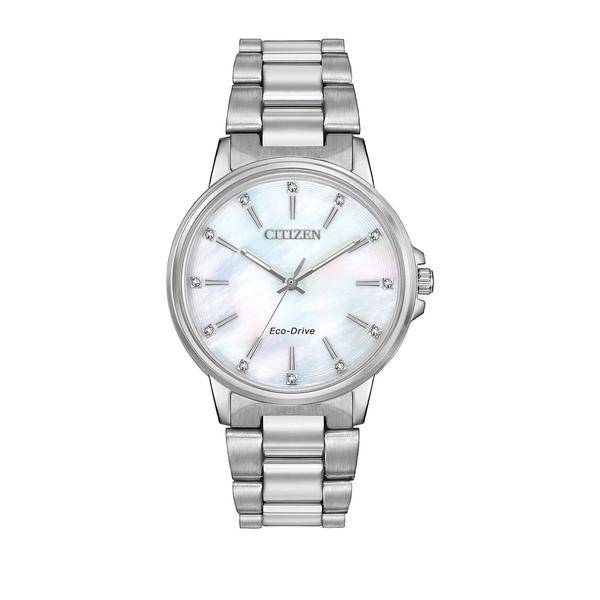 シチズン レディース 腕時計 アクセサリー Chandler Stainless Steel Eco-Drive Bracelet Watch Silver