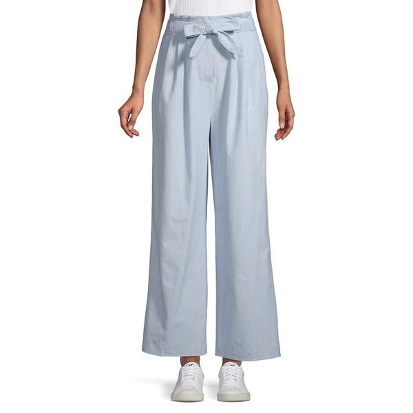 フィフスレーベル レディース カジュアルパンツ ボトムス Savannah Wide-Leg Paper-Bag Pants Washed Blue