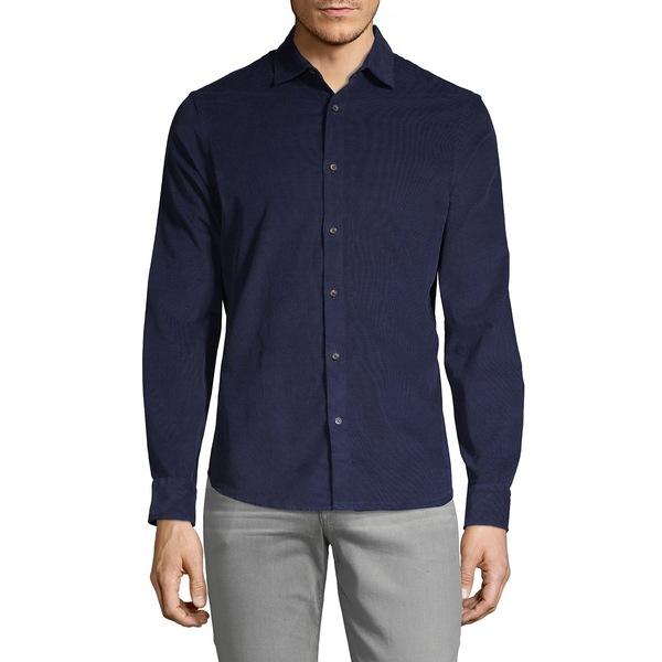 ブラック・ブラウン1826 メンズ シャツ トップス Classic-Fit Corduroy Shirt Navy