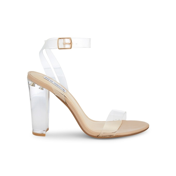 スティーブ マデン レディース サンダル シューズ Camile See-Thru Block Sandals Silver