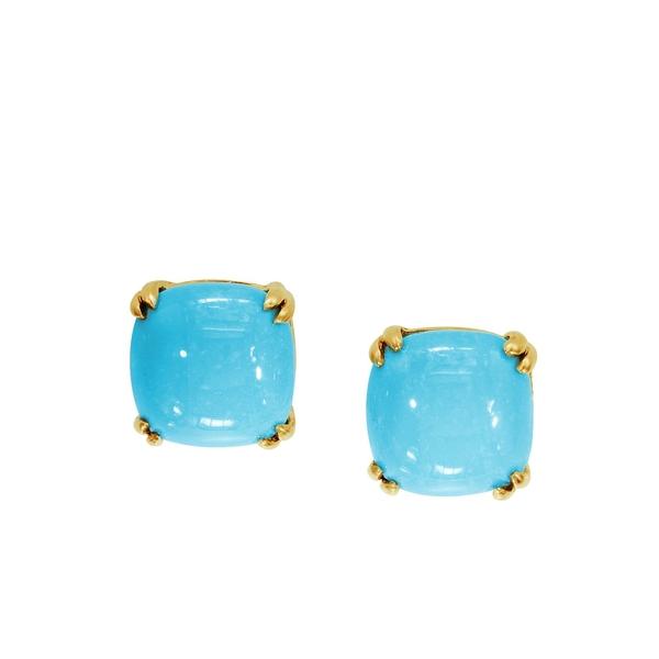 エフィー レディース ピアス&イヤリング アクセサリー 14K Yellow Gold Turquoise Stud Earrings Turquoise