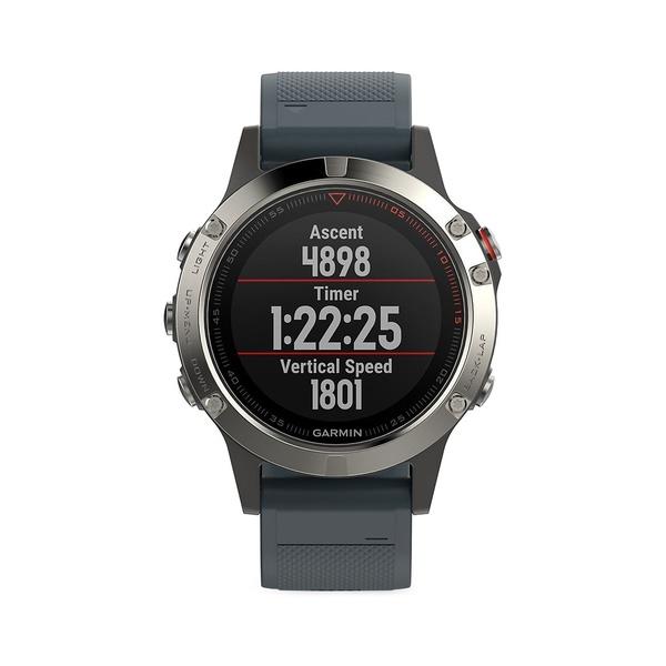 ガーミン レディース 腕時計 アクセサリー Fenix 5 Silicone-Strap Smart Watch Grey