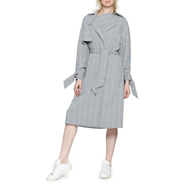 ウォルターベーカー レディース コート アウター Plaid Trench Coat Grey