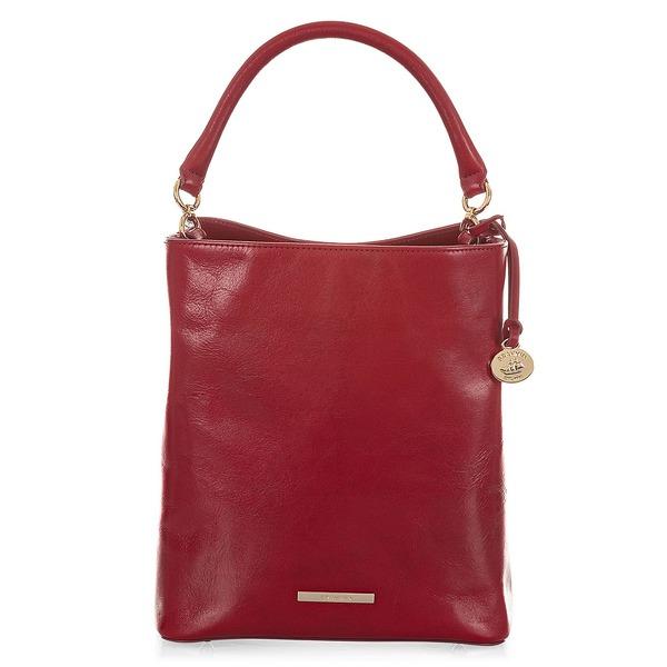 ブランミン レディース ハンドバッグ バッグ Lava Topsail Amelia Leather Bucket Bag Lava