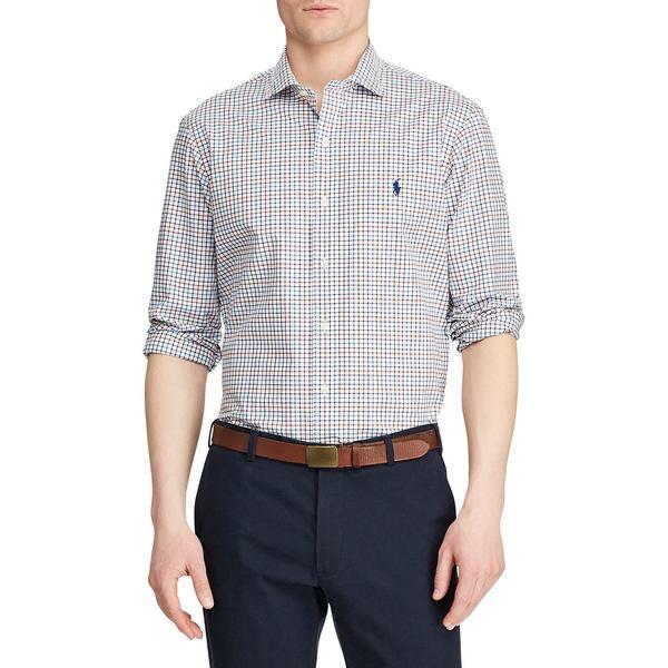 ラルフローレン メンズ シャツ トップス Classic-Fit Plaid Button-Down Shirt White Multi