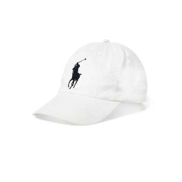 ラルフローレン レディース 帽子 アクセサリー Athletic Twill Baseball Cap White Navy