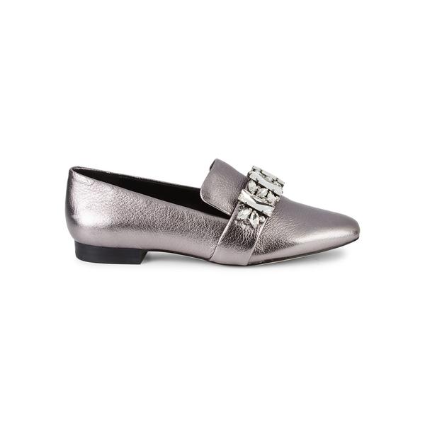 カールラガーフェルド レディース サンダル シューズ Nyra Embellished Leather Flats Silver