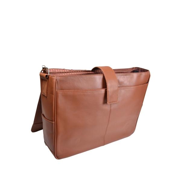 ロイス メンズ バックパック・リュックサック バッグ Executive Laptop Messenger Bag Tan