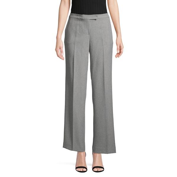 カスパー レディース カジュアルパンツ ボトムス Stretch Flat-Front Pants Grey