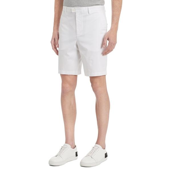 カルバンクライン メンズ ハーフ&ショーツ ボトムス Classic-Fit Stretch Chino Shorts White