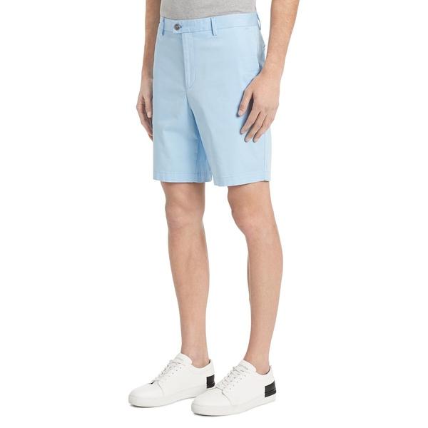カルバンクライン メンズ ハーフ&ショーツ ボトムス Classic-Fit Stretch Chino Shorts Blue Control