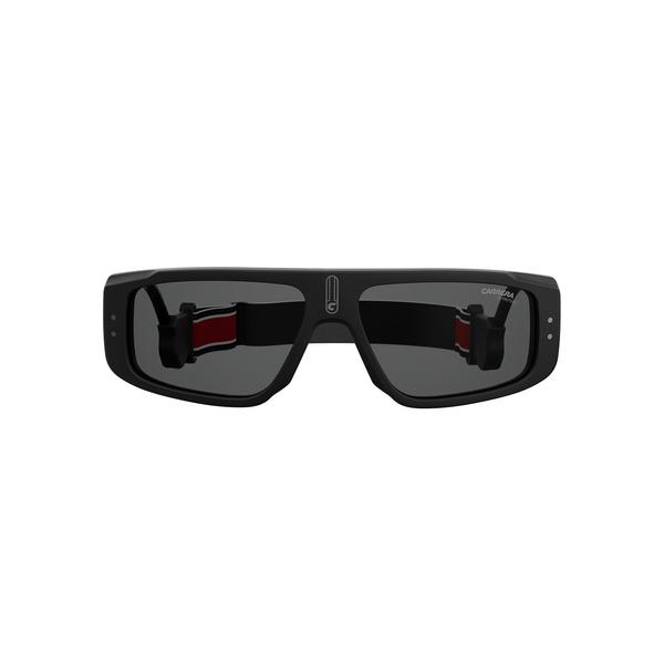カレーナ メンズ サングラス・アイウェア アクセサリー 58MM Rectangular Sunglasses Black