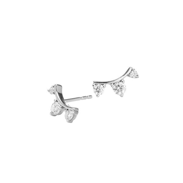 アディナ レイター レディース ピアス&イヤリング アクセサリー Amigos Sterling Silver & Diamond Stud Earrings Silver