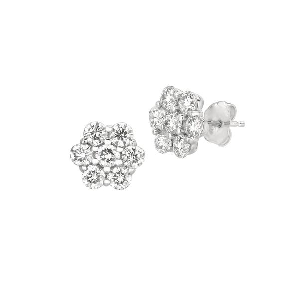 モリスアンドデイビッド レディース ピアス&イヤリング アクセサリー Diamonds and 14K White Gold Stud Earrings White Gold