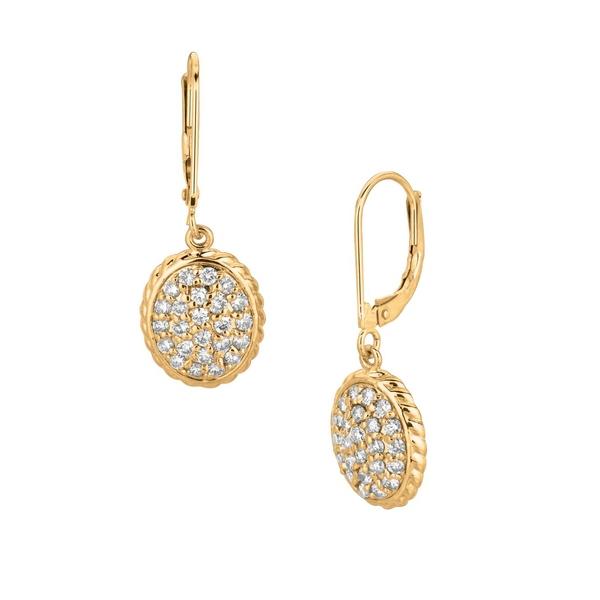 モリスアンドデイビッド レディース ピアス&イヤリング アクセサリー 1.01TCW Diamond and 14K Yellow Gold Drop Earrings Yellow Gold