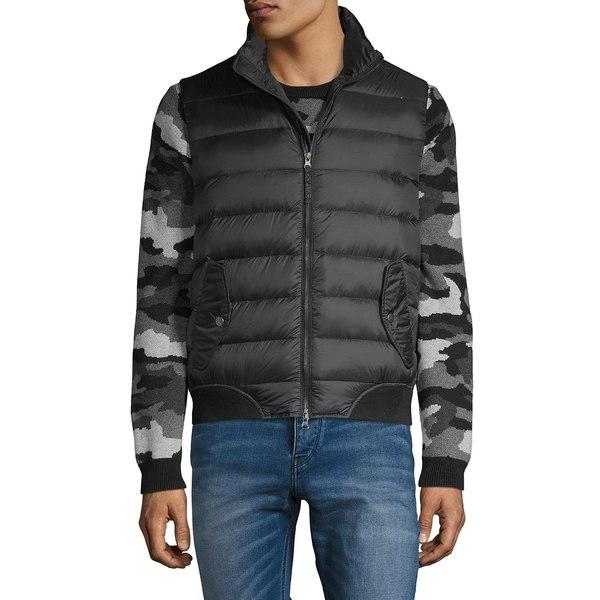 ブラック・ブラウン1826 メンズ ジャケット&ブルゾン アウター Down-Filled Puffer Vest Black