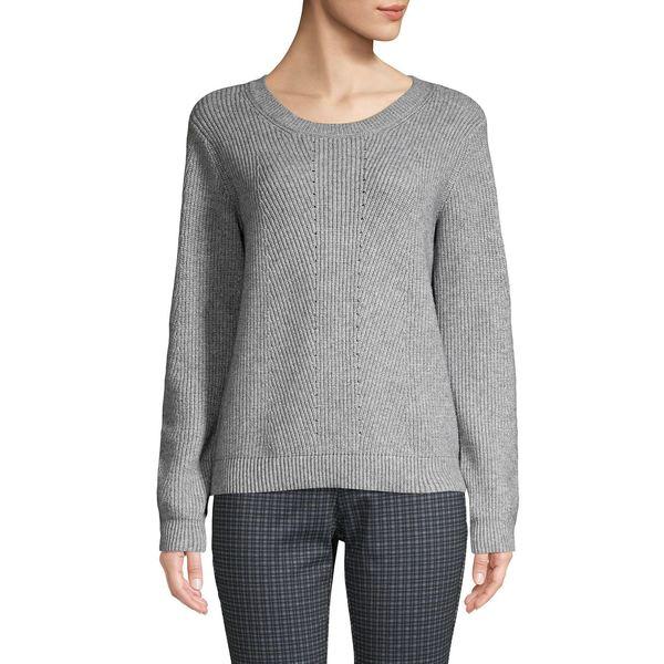エイチ ホルストン レディース ニット&セーター アウター Crewneck Ribbed Knit Sweater Grey