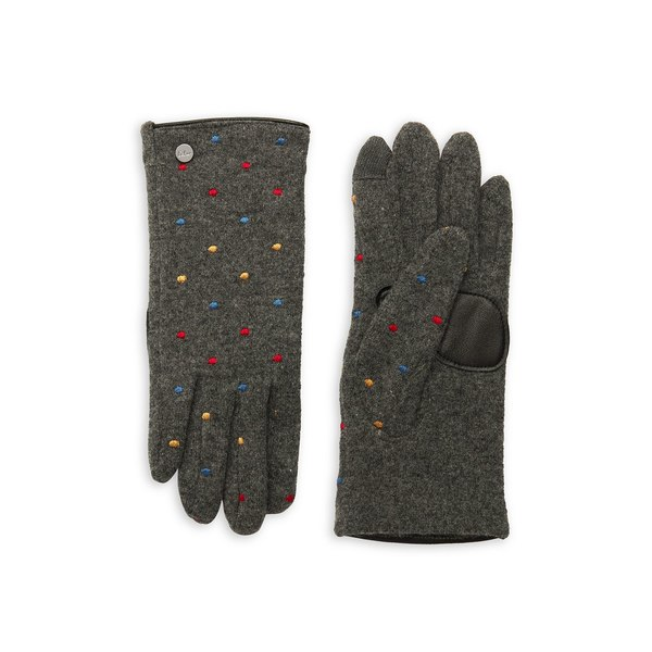 エコー レディース 手袋 アクセサリー Polka Dot Wool & Cashmere-Blend Gloves Heather Grey