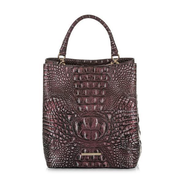 ブランミン レディース ハンドバッグ バッグ Melbourne Amelia Leather Bucket Bag Plum