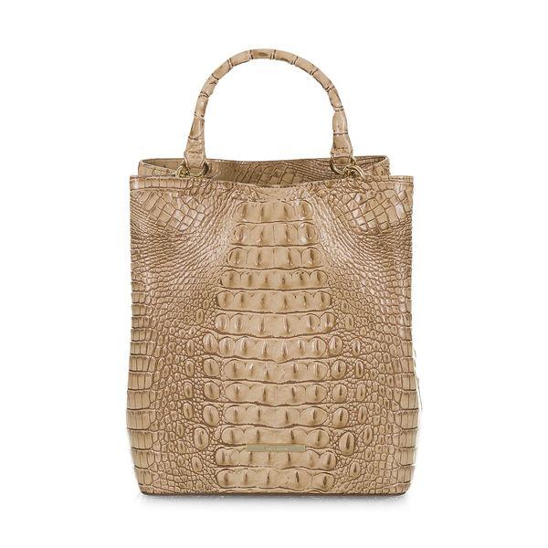 ブランミン レディース ハンドバッグ バッグ Melbourne Amelia Leather Bucket Bag Sand
