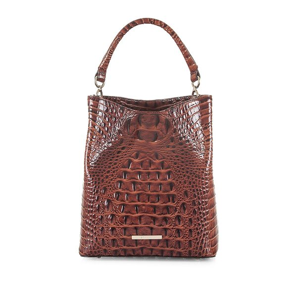 ブランミン レディース ハンドバッグ バッグ Melbourne Amelia Leather Bucket Bag Pecan