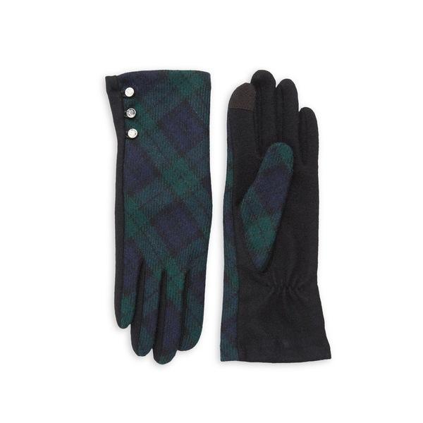 ラルフローレン レディース 手袋 アクセサリー Plaid Buttoned Gloves Black