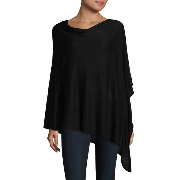 エコー レディース ニット&セーター アウター Asymmetrical Knit Poncho Black