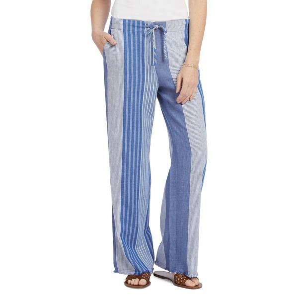 ニックプラスゾーイ レディース カジュアルパンツ ボトムス Fiji Linen Pants Blue