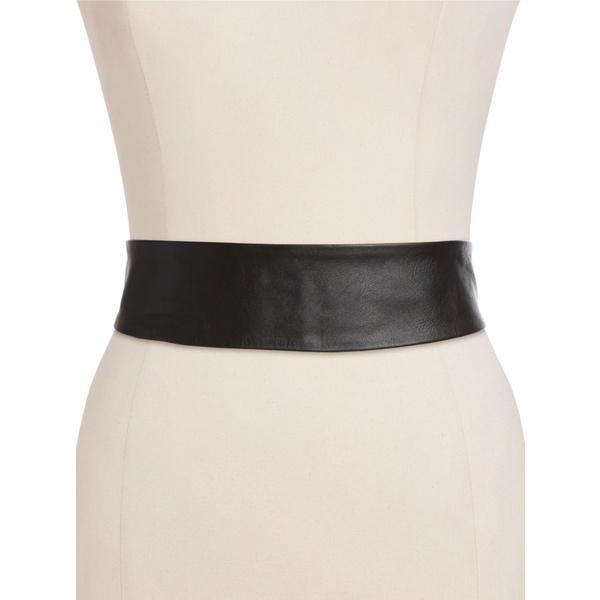 アダ レディース ベルト アクセサリー Leather Wrap Belt Black