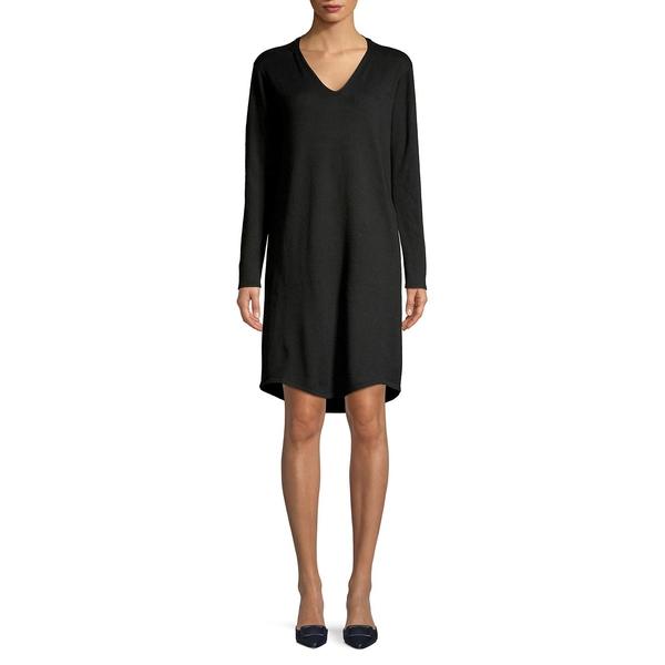 エイチ ホルストン レディース ワンピース トップス V-Neck Sweater Dress Black