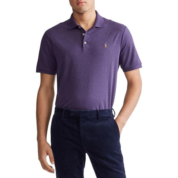 ラルフローレン メンズ ポロシャツ トップス Classic-Fit Interlock Polo Shirt Raisin Heather