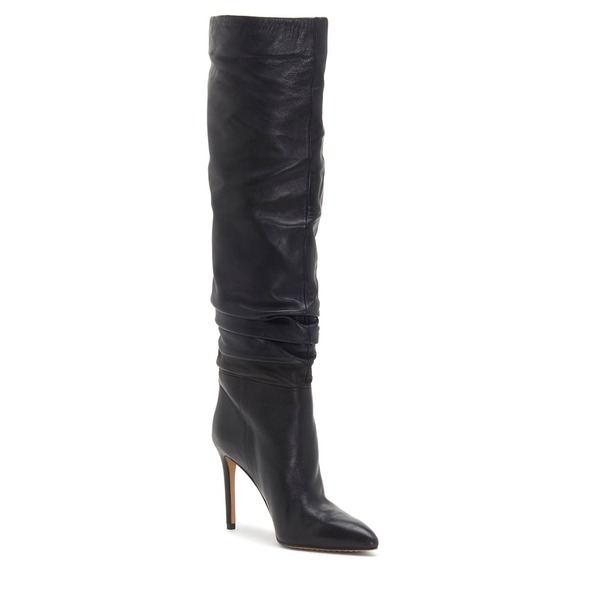 ヴィンスカムート レディース パンプス シューズ Kasiana Over-the-Knee Leather Boots Black