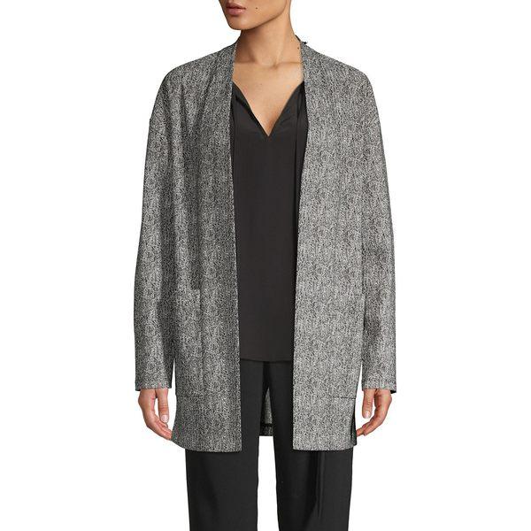 エイチ ホルストン レディース ニット&セーター アウター Printed Open-Front Cardigan Grey