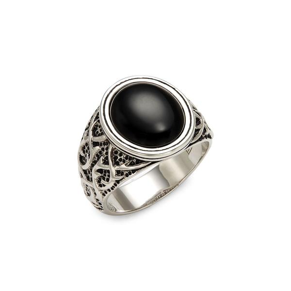 エフィー レディース リング アクセサリー Sterling Silver and Onyx Ring Silver