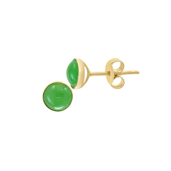 エフィー レディース ピアス&イヤリング アクセサリー 14K Yellow Gold & Jade Stud Earrings Jade