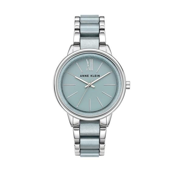 アンクライン レディース 腕時計 アクセサリー Classic Logo Bracelet Watch Silver