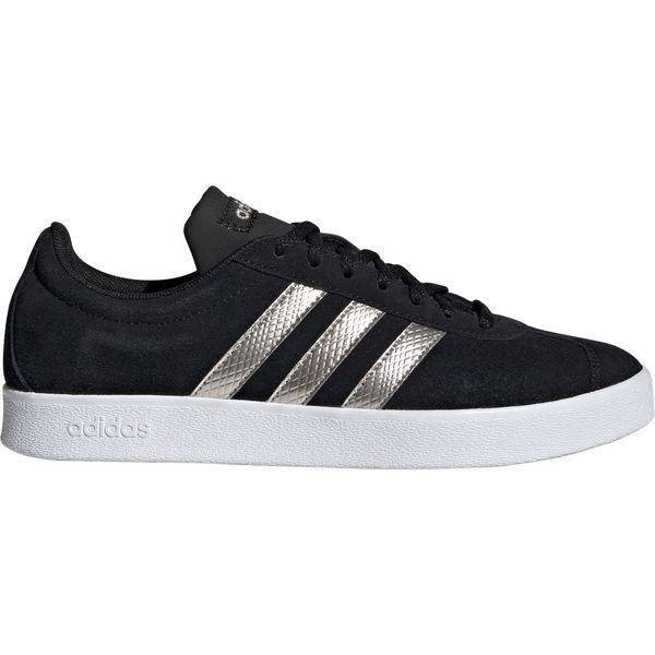 アディダス レディース スニーカー シューズ adidas Women's VL Court 2.0 Shoes Black/Platinum/White