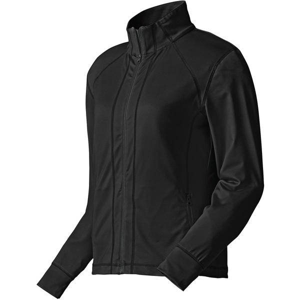 フットジョイ レディース ジャケット&ブルゾン アウター FootJoy Women's Full-Zip Performance Mid Layer Golf Jacket Black
